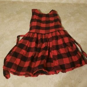 Carters Red and black plaid Christmas dress